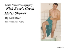 Male Nude Photography- Nick Baer's Czech Mates Shower