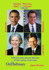Obama vs. Romney vs. Stein vs. Johnson On the Issues