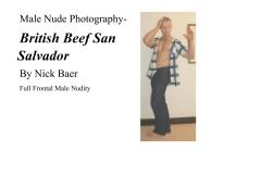 Male Nude Photography- British Beef San Salvador