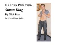 Male Nude Photography- Simon King