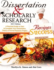 Dissertation and Scholarly Research: Recipes for Success
