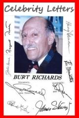 Burt Richards' Celebrity Letters
