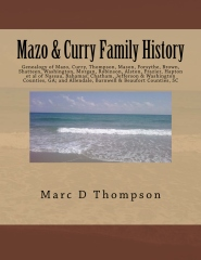 Genealogy of Mazo, Curry, Thompson, Mason, Forsythe, Brown, Shatteen, Washington, Morgan, Robinson, Alston, Frazier, Hapton et al