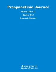 Prespacetime Journal Volume 3 Issue 11