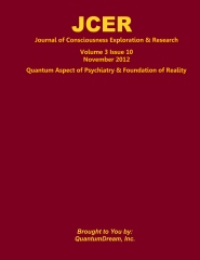Journal of Consciousness Exploration & Research Volume 3 Issue 10