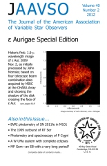 The Journal of the American Association of Variable Star Observers 40.2