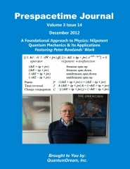 Prespacetime Journal Volume 3 Issue 14