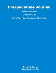 Prespacetime Journal Volume 3 Issue 15