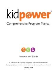 Kidpower Comprehensive Program Manual