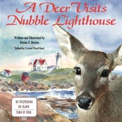 A Deer Visits Nubble Lighthouse