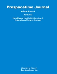 Prespacetime Journal Volume 4 Issue 4