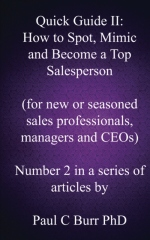 Quick Guide II - How to Spot, Mimic and Become a Top Salesperson