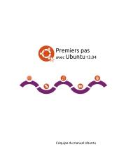 Premiers pas avec Ubuntu 13.04
