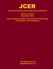 Journal of Consciousness Exploration & Research Volume 4 Issue 9