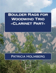 Boulder Rags for Woodwind Trio - Clarinet Part -