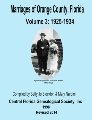 Marriages of Orange Co, Florida