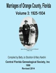Marriages of Orange Co, Florida