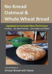 No-Knead Oatmeal & Whole Wheat Bread