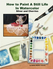 How to Paint a Still Life in Watercolor: Silver and Cherries