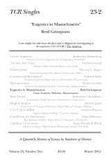 TCR Singles 23-2 Eugenics in Massachusetts
