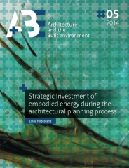 Strategic investment of embodied energy during the architectural planning proces