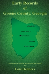 Early Records of Greene County, Georgia