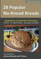 28 Popular No-Knead Breads (B&W Version)