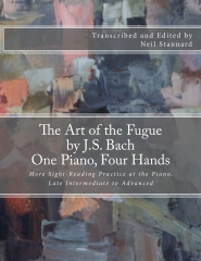The Art of the Fugue by J.S. Bach, One Piano Four Hands