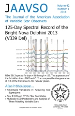 The Journal of the American Association of Variable Star Observers V42 N1