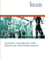 Career Handbook for Working Professionals