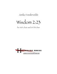 Wisdom 2:23
