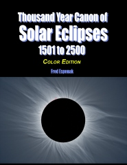 Thousand Year Canon of Solar Eclipses 1501 to 2500 - Color Edition