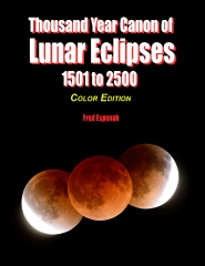 Thousand Year Canon of Lunar Eclipses 1501 to 2500 - Color Edition