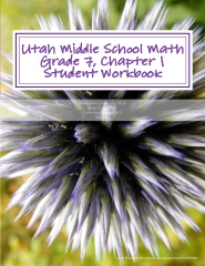 Utah Middle School Math Grade 7, Chapter 1 Student Workbook