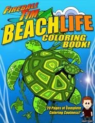 Fireball Tim BEACHLIFE Coloring Book