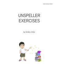 Unspeller Exercise Book