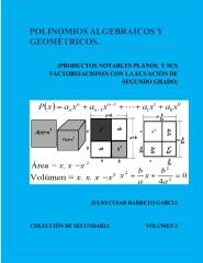 Polinomios Algebraicos y Geometricos (Productos Notables Planos y Factorizacion)