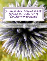 Utah Middle School Math Grade 7, Chapter 7 Student Workbook