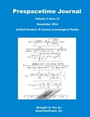 Prespacetime Journal Volume 5 Issue 13