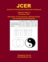 Journal of Consciousness Exploration & Research Volume 5 Issue 11
