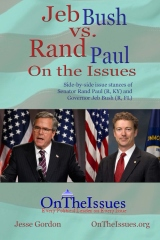 Rand Paul vs. Jeb Bush On the Issues