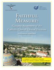 Faithful Measure: Gauging Awareness of the Catholic Church's Social Doctrine