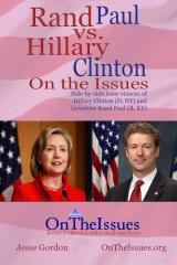 Hillary Clinton vs. Rand Paul On the Issues
