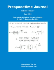 Prespacetime Journal Volume 6 Issue 7