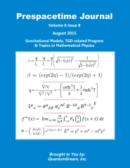 Prespacetime Journal Volume 6 Issue 8