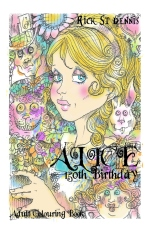 Alice 150th Birthday - an adult coloring book