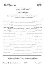 TCR Singles 12-2 Anne Hutchinson