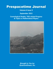 Prespacetime Journal Volume 6 Issue 9