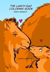 The Lunch Bag Coloring Book: Family Animals