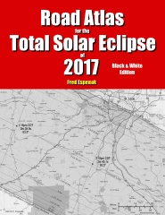 Road Atlas for the Total Solar Eclipse of 2017 - Black & White Edition